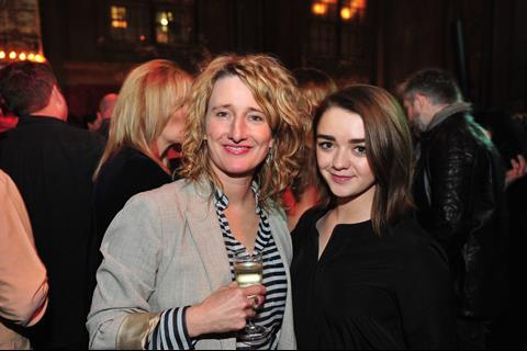 Tricia Tuttle, BFI, with Maisie Williams